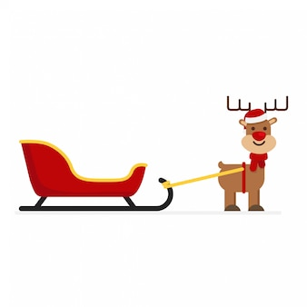 Natale babbo natale con cervi