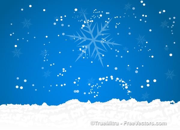 Natale con la neve sfondo cielo