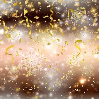Natale con sfondo confettis