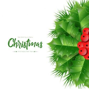 Natale di rami di abete
