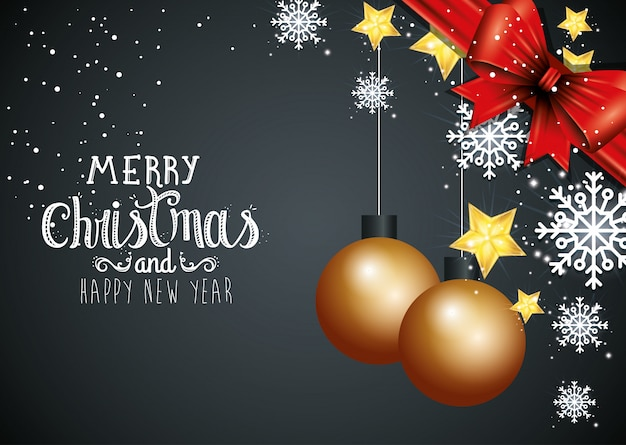 Natale e felice anno nuovo con auto decorazione