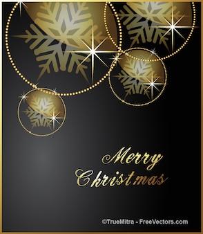Natale, fiocchi di neve d'oro vettore