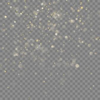Natale glitter dorato. sfondo trasparente solo in