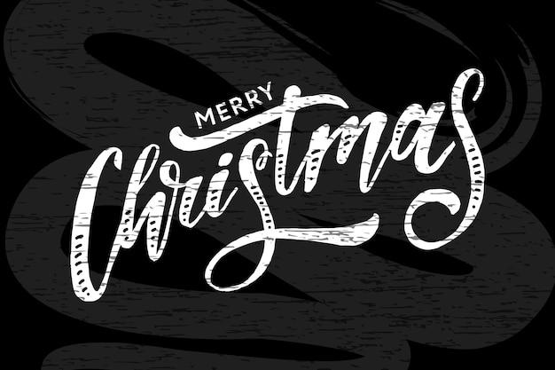 Natale lettering lettering calligrafia pennello testo vacanza lavagna