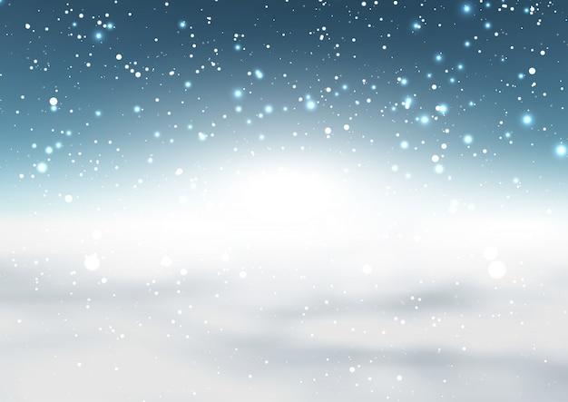 Natale nevoso sullo sfondo