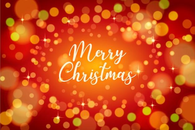 Natale rosso e dorato sfondo sfocato
