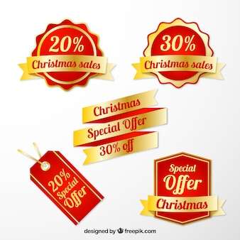 Natale sale tags collection