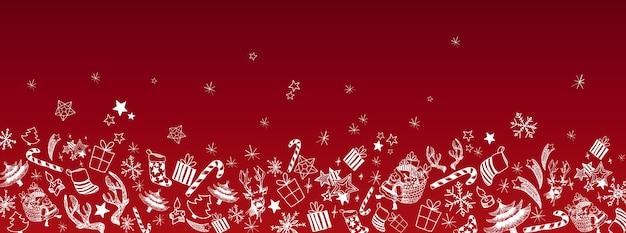 Natale scarabocchia sfondo