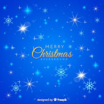 Natale scintillante sfondo blu