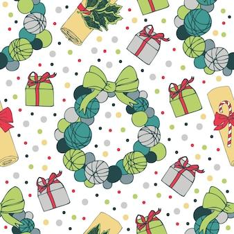 Natale senza saldatura pattern