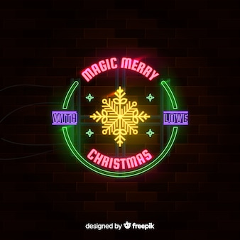 Natale sfondo al neon