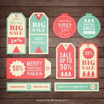 Natale vendite tag collection