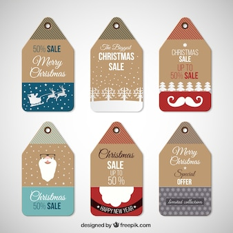 Natale vendite tag collection