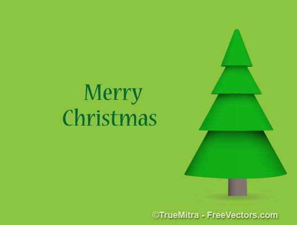 Natale verde pino cartolina