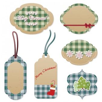 Natale vettoriale etichette e cartellini