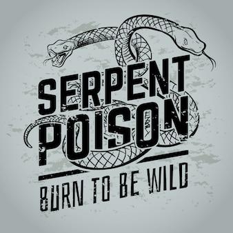 Nato per essere illustrazione selvaggia, veleno di serpente serpente vipera