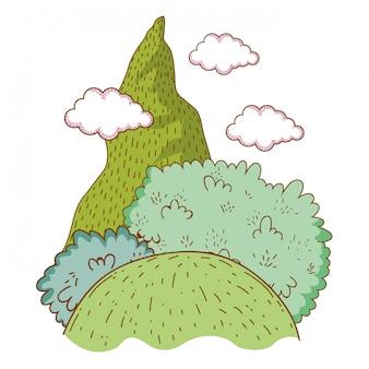 Natura del paesaggio con montagna