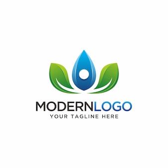 Natura logo design moderno