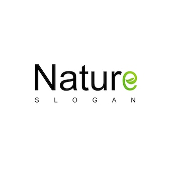 Natura logo design vettoriale
