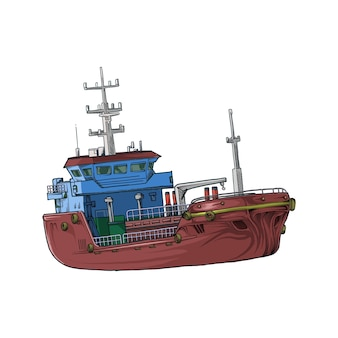 Nave mercantile in mano disegno