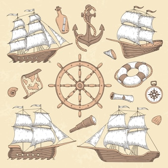 Navi marine d'epoca