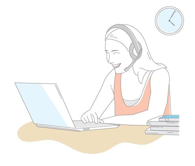 Navigare in internet illustrazione