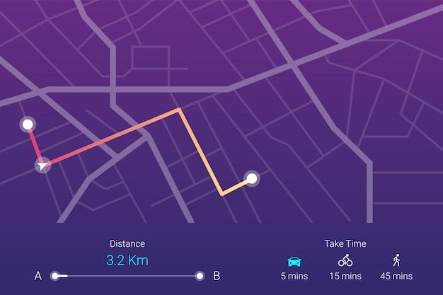 Navigazione della mappa stradale della città