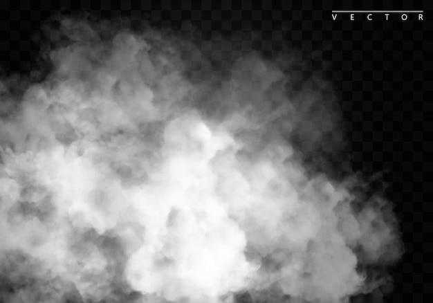 Nebbia o effetto speciale isolato fumo