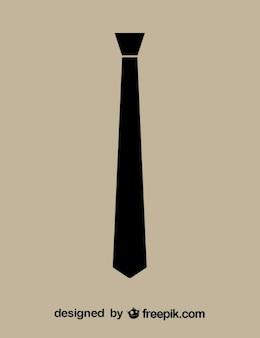 Necktie icona nera