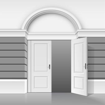 Negozio classico museo boutique edificio negozio anteriore con porta aperta