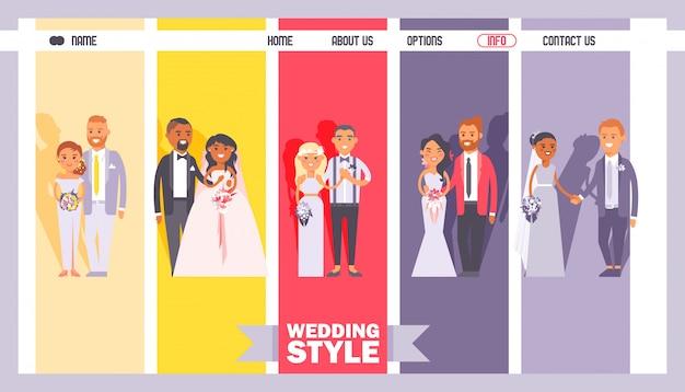 Negozio di abiti da sposa e costumi, design sito web salone da sposa