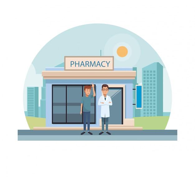 Negozio di farmacia in città