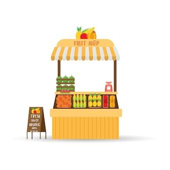 Negozio di frutta fresca dell'azienda agricola biologica