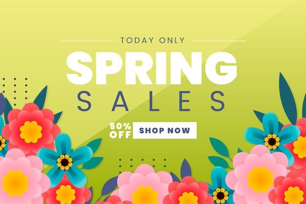 Negozio di vendita di design piatto primavera ora