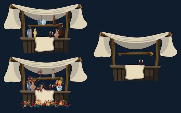 Negozio in illustrazione vettoriale notte araba