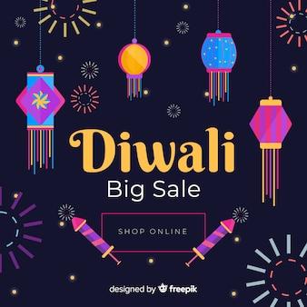 Negozio online di diwali piatto