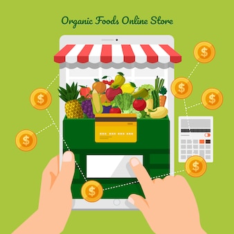 Negozio online di frutta e verdura