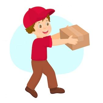 Negozio online o e-shop, servizio di consegna.