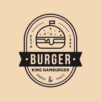 Negozio vintage di hamburger