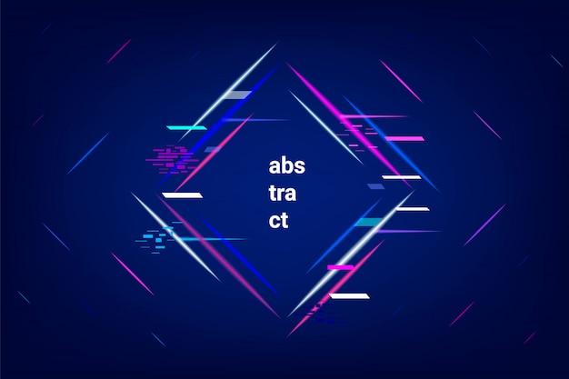 Neon astratto geometrico.