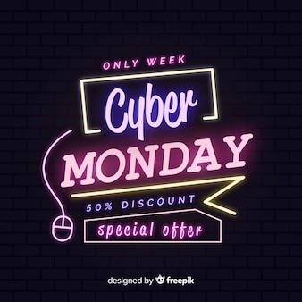 Neon colorati cyber lunedì