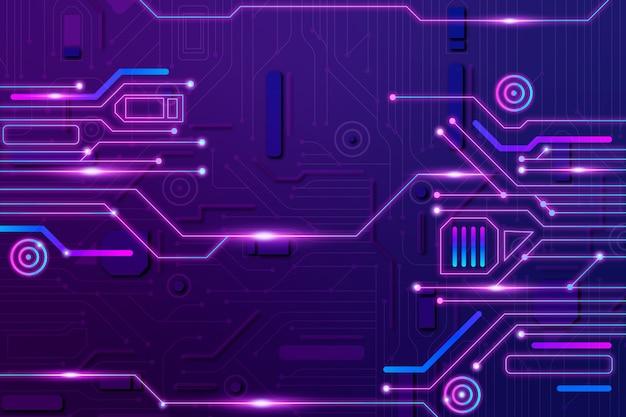 Neon del circuito del fondo
