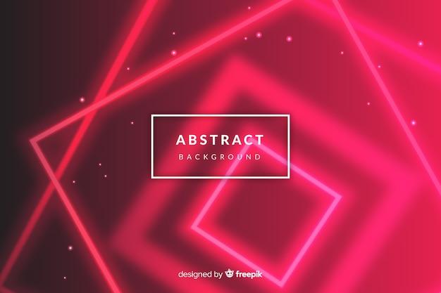 Neon futuristico sfondo di luci rosse