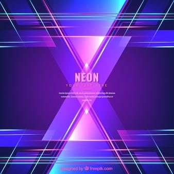 Neon lights background con tonalità del viola e blu