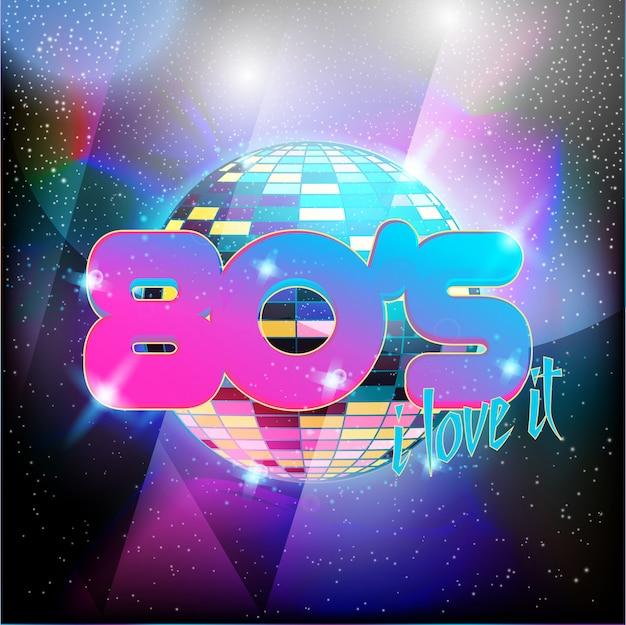 Neon style anni '80 design discoteca neon