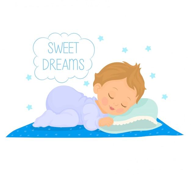 Neonato sveglio che dorme