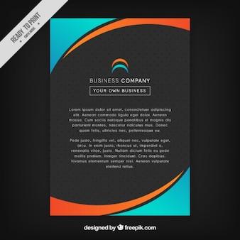 Nero, arancio e blu modello di brochure