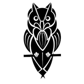 Nero gufo uccello illustrazione vettoriale