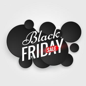 Nero manifesto vendita venerdì con più puntini neri