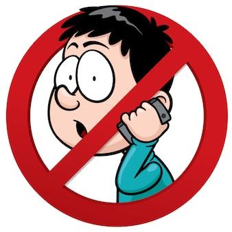 Nessun segno del ricevitore del telefono